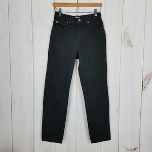 Retro Calvin Klein Black High Waist Mom Jeans - 8